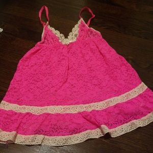 Vs pink and cream lace babydoll